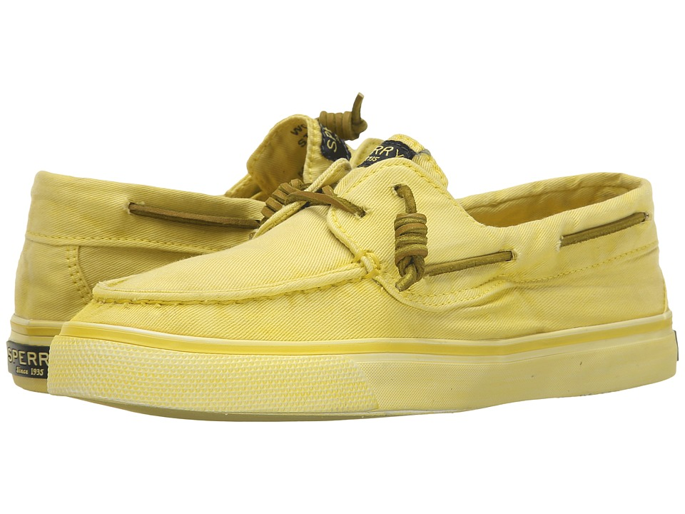 Sperry Top-Sider - Bahama Washed (Light Yellow) Women's Lace up casual Shoes