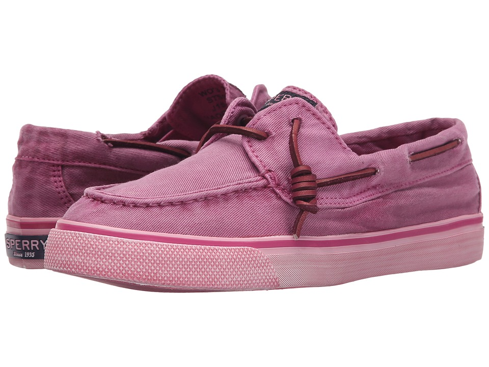 Sperry Top-Sider - Bahama Washed (Bright Pink) Women's Lace up casual Shoes