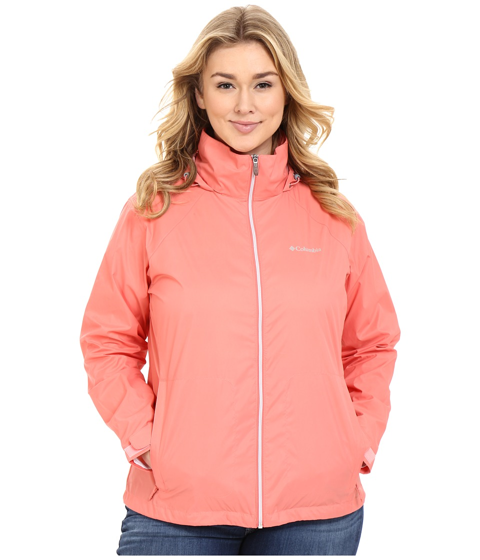 Columbia - Plus Size Switchback II Jacket (Coral Bloom) Women's Coat