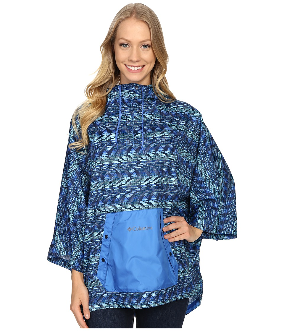 Columbia - Flash Forward Anorak (Stormy Blue Matrix Print) Women's Coat