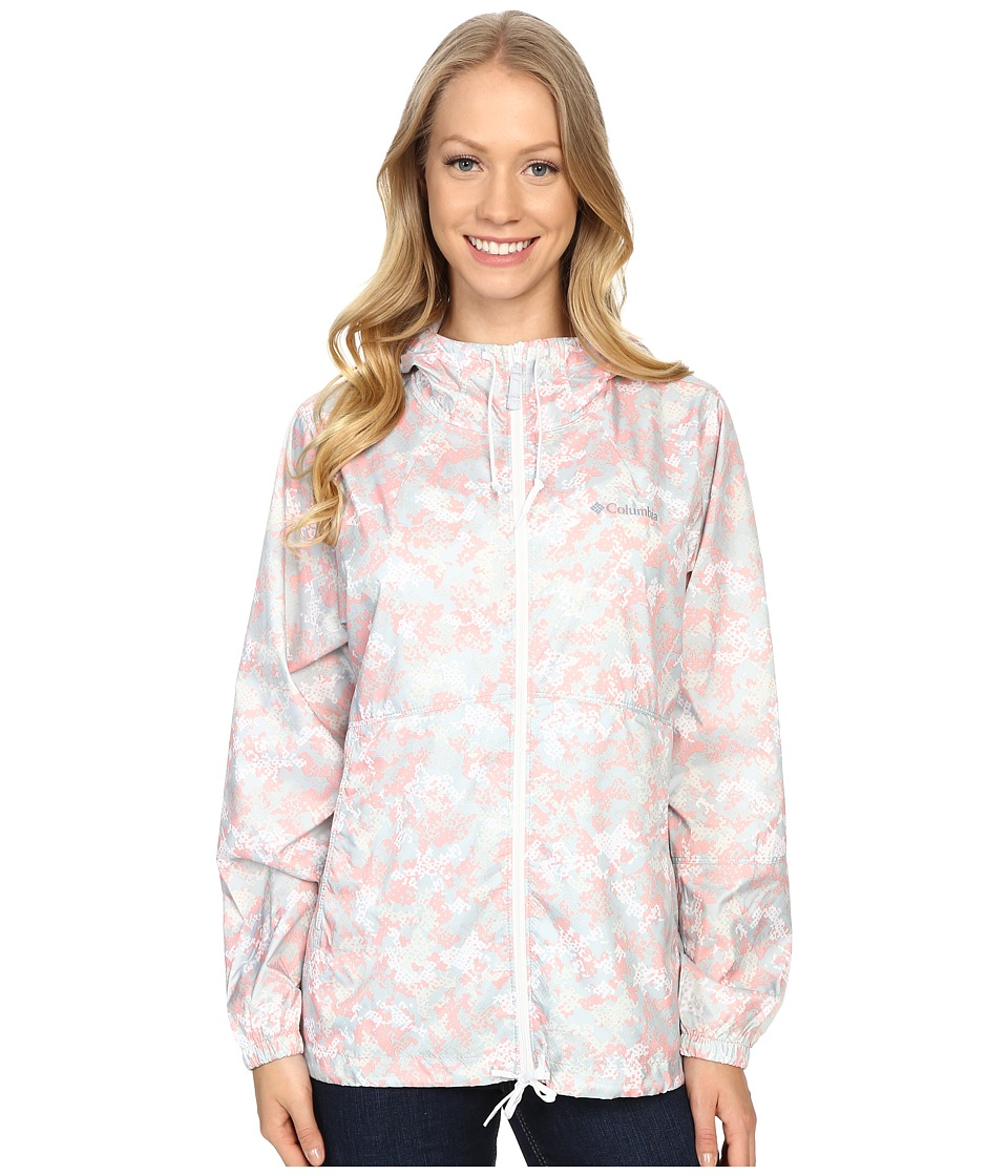 Columbia - Flash Forward Printed Windbreaker (Vintage Pink Print) Women's Coat