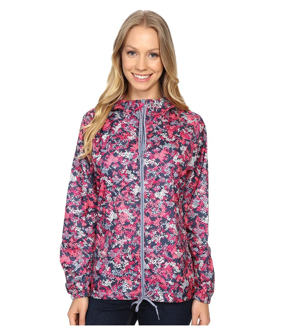 Columbia - Flash Forward Printed Windbreaker (Haute Pink Print) Women's Coat