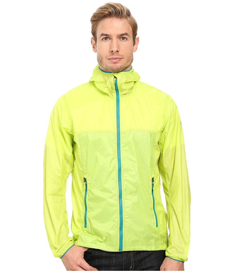 adidas Outdoor All Outdoor Mistral Wind Jacket (Semi Solar Slime) Men