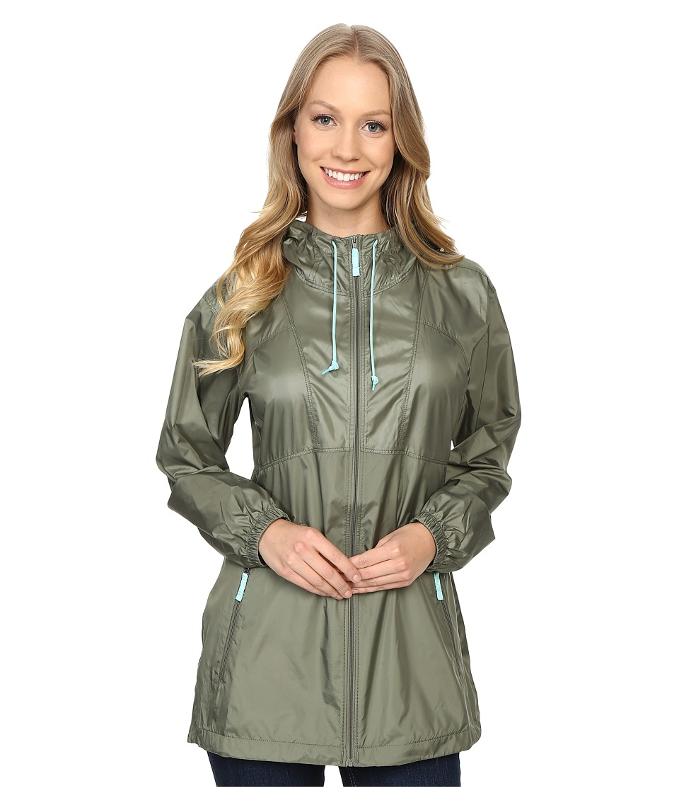 Columbia - Flashback Windbreaker Long (Cypress/Ocean Water) Women's Coat