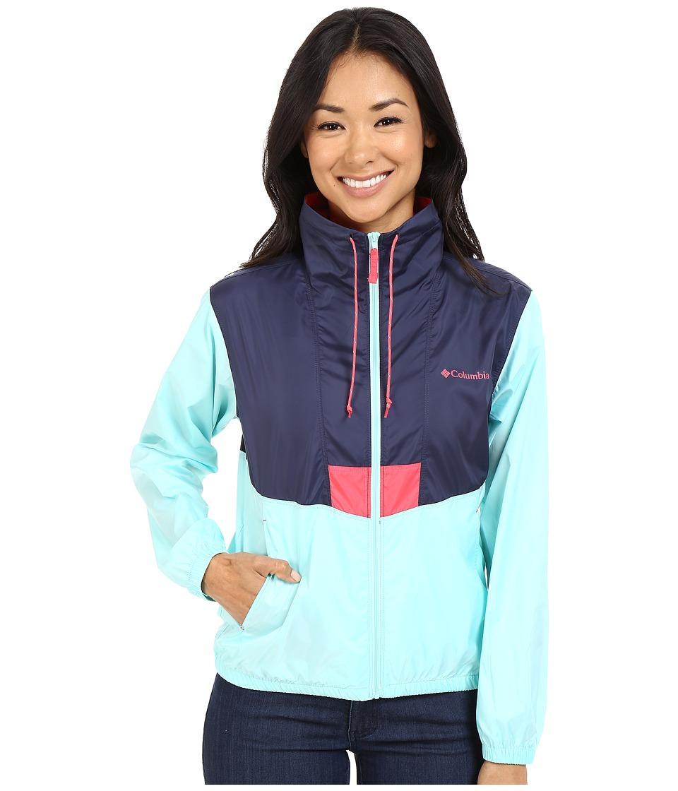Columbia - Flashback Windbreaker (Nocturnal/Ocean Water/Bright Geranium) Women's Coat