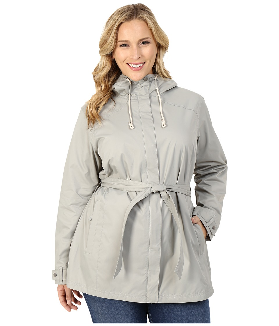 Columbia - Plus Size Pardon My Trench Rain Jacket (Flint Grey) Women's Coat