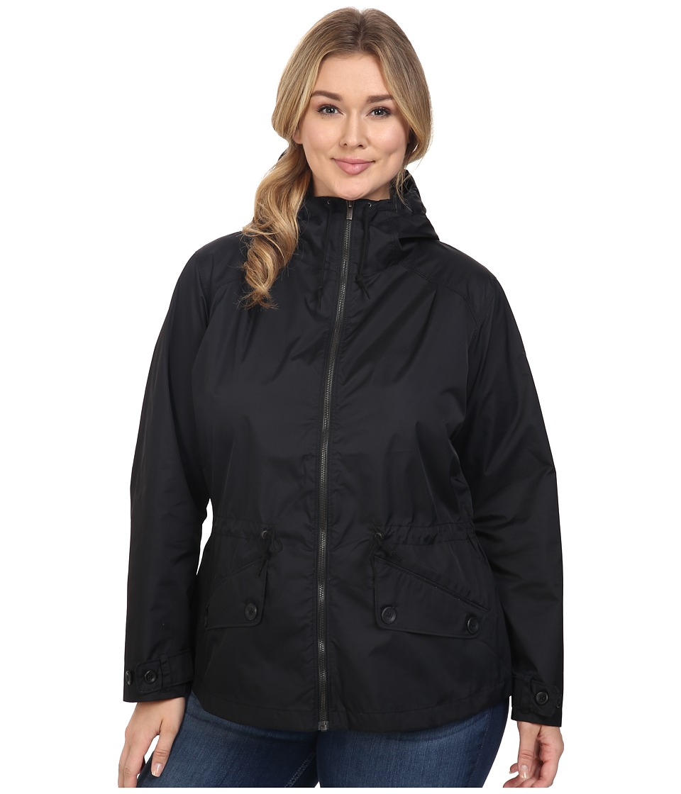 Columbia - Plus Size Regretless Jacket (Black) Women's Coat