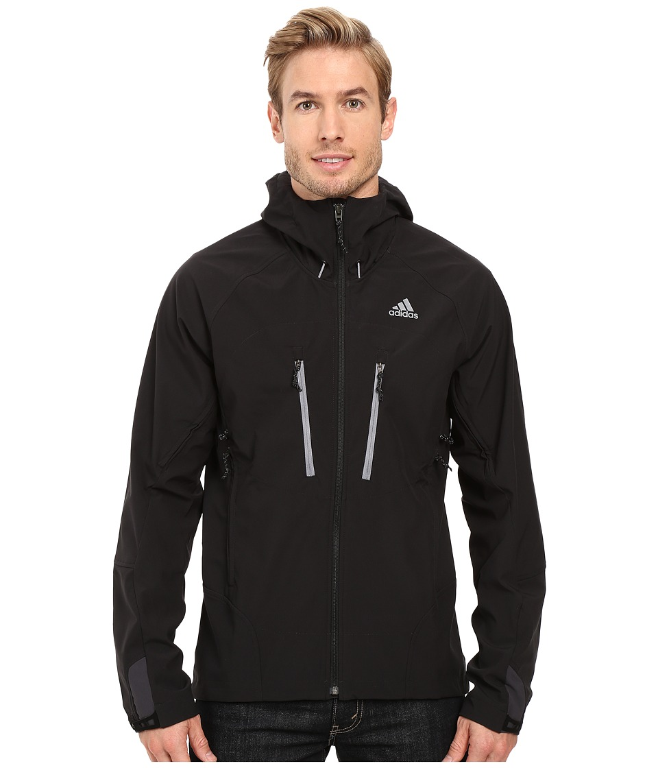adidas Outdoor - All Outdoor Softshell Hoodie (Black) Men's Coat
