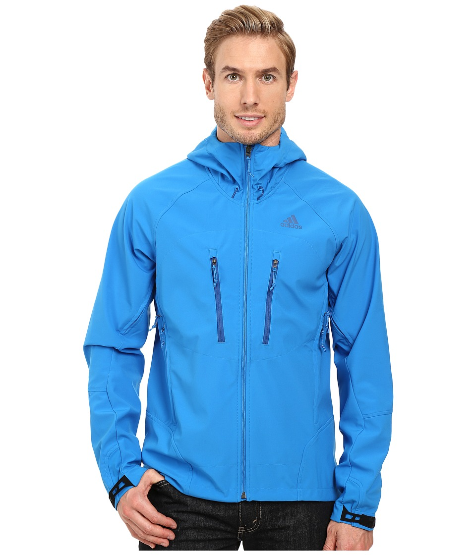 adidas Outdoor All Outdoor Softshell Hoodie (Shock Blue) Men
