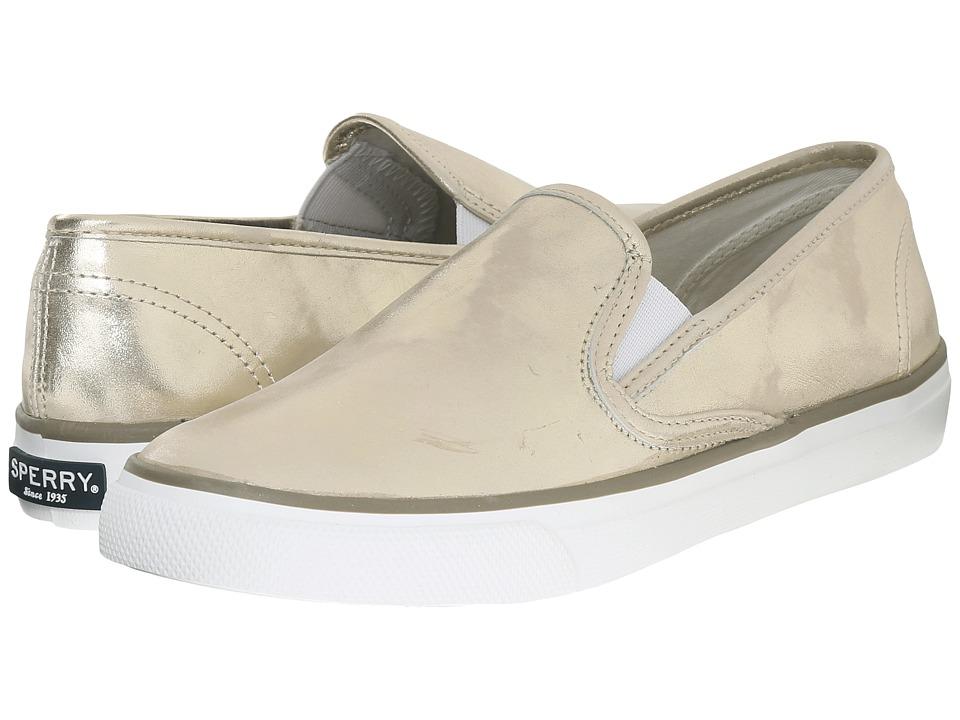 Sperry - Seaside Metallic (Platinum) Women's Slip on Shoes