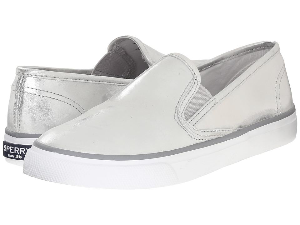 Sperry - Seaside Metallic (Silver) Women's Slip on Shoes