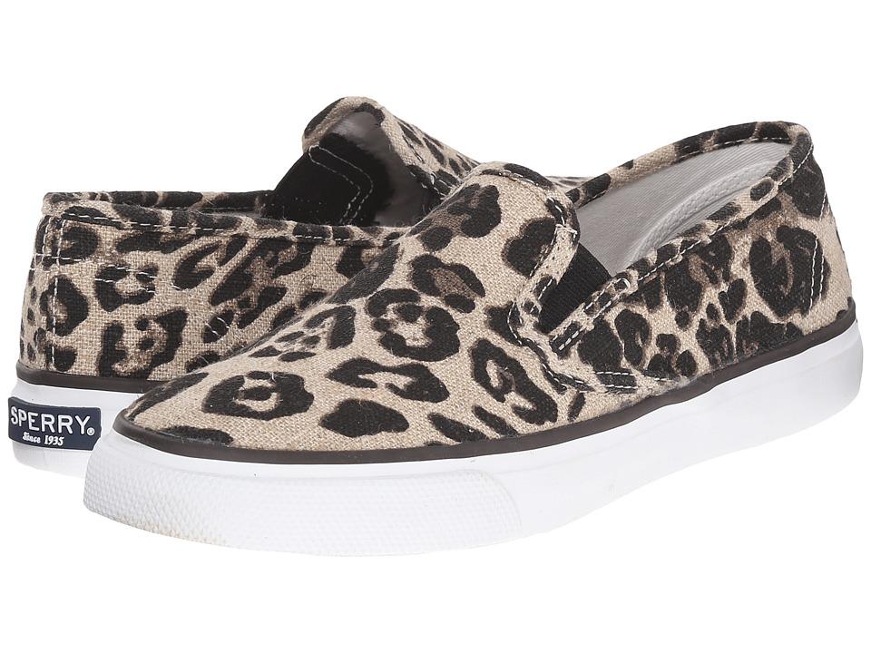 Sperry Top-Sider - Seaside Animal (Tan Leopard) Women's Slip on Shoes