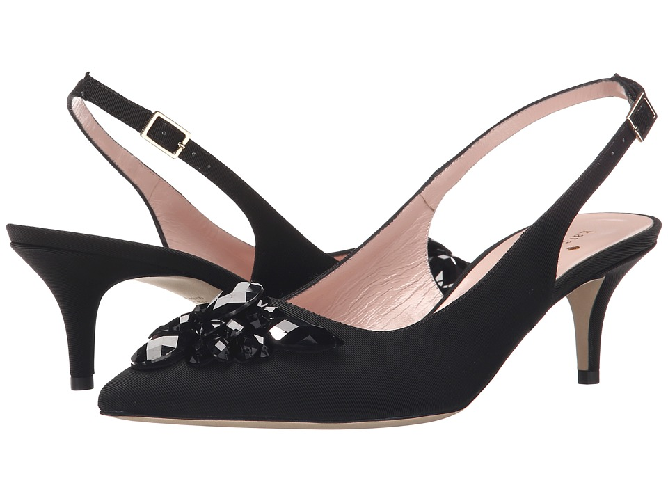 Kate Spade New York - Marina Too (Black Grosgrain) Women's Shoes