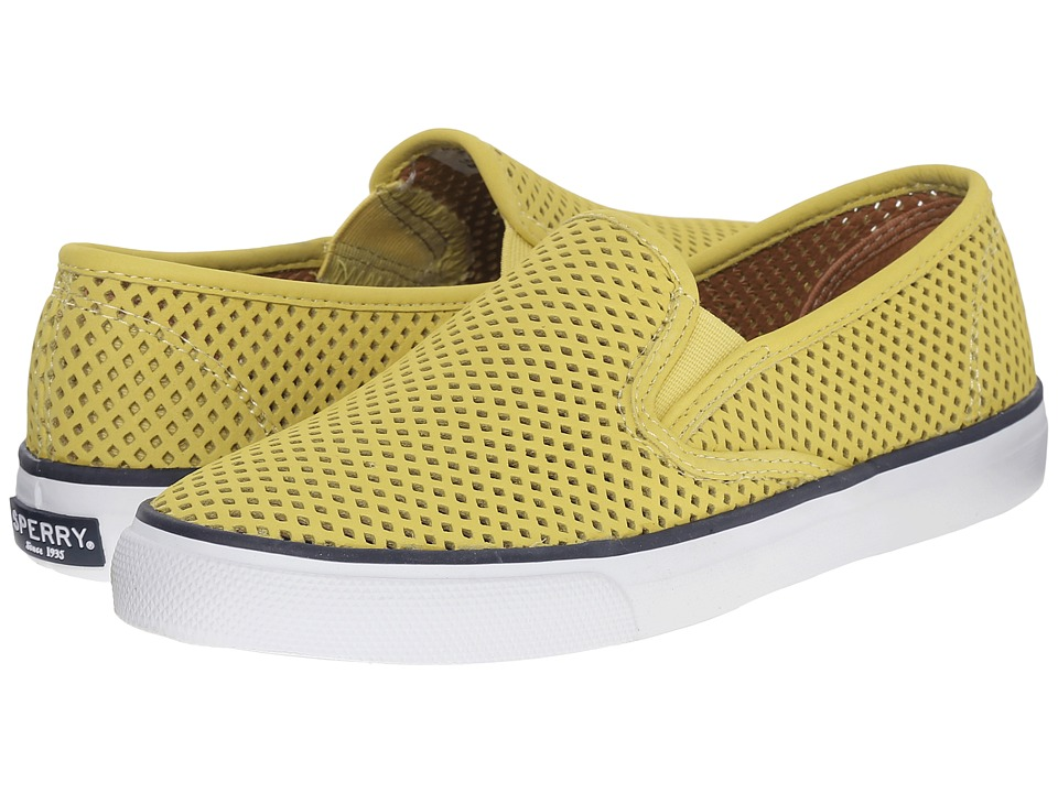 Sperry Top-Sider - Seaside Perfs (Yellow) Women's Slip on Shoes