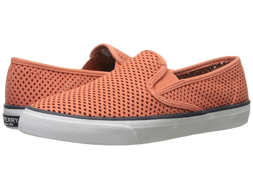 Sperry Top-Sider - Seaside Perfs (Coral) Women's Slip on Shoes