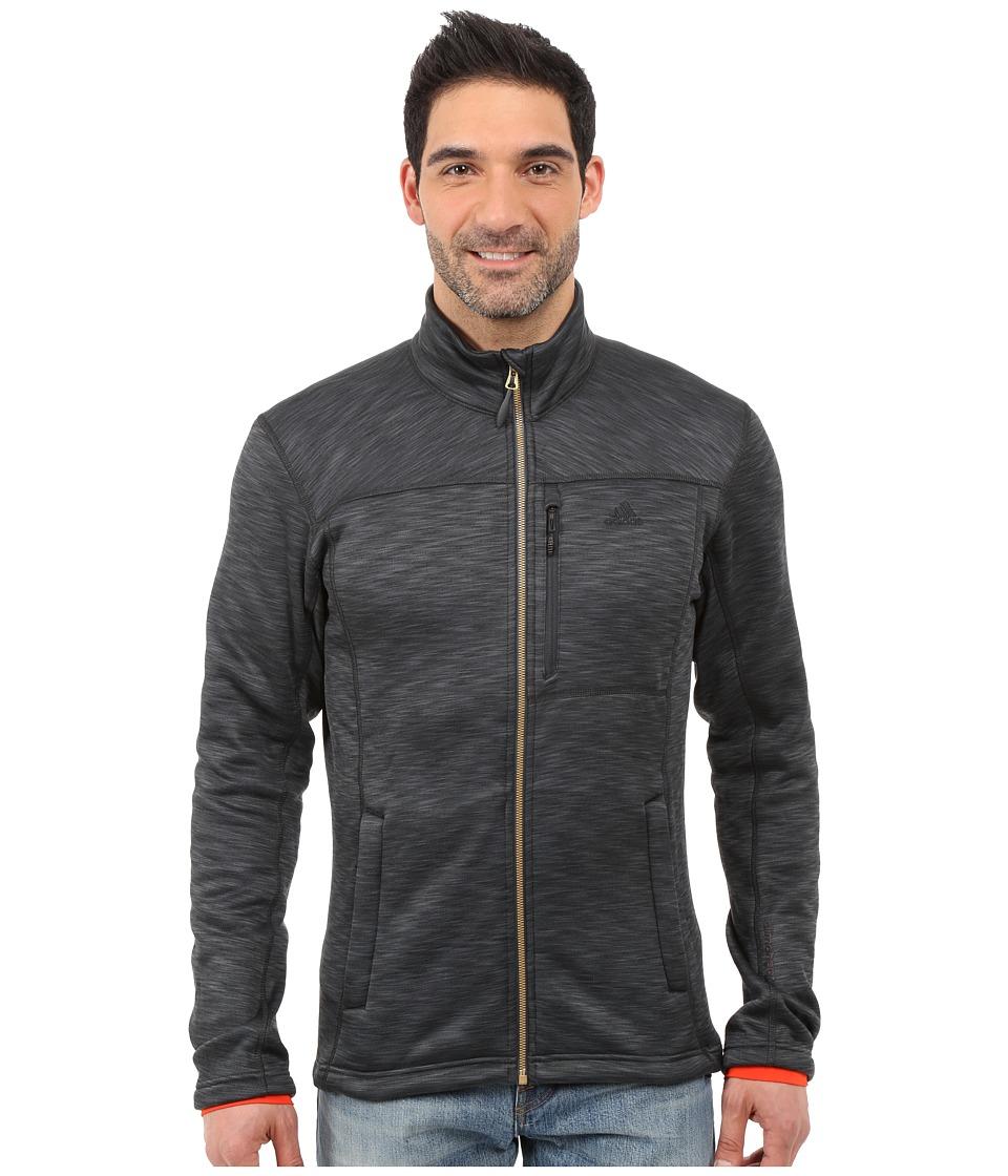 adidas Outdoor - Climaheat Fleece Jacket (Heat Dark Grey Mel) Men's Coat