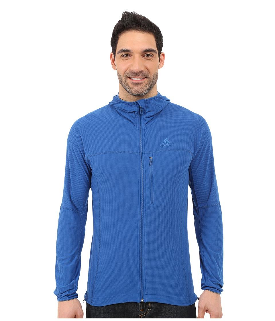 adidas Outdoor - Terrex Swift 37.5 Fleece Hoodie (Blue) Men's Fleece