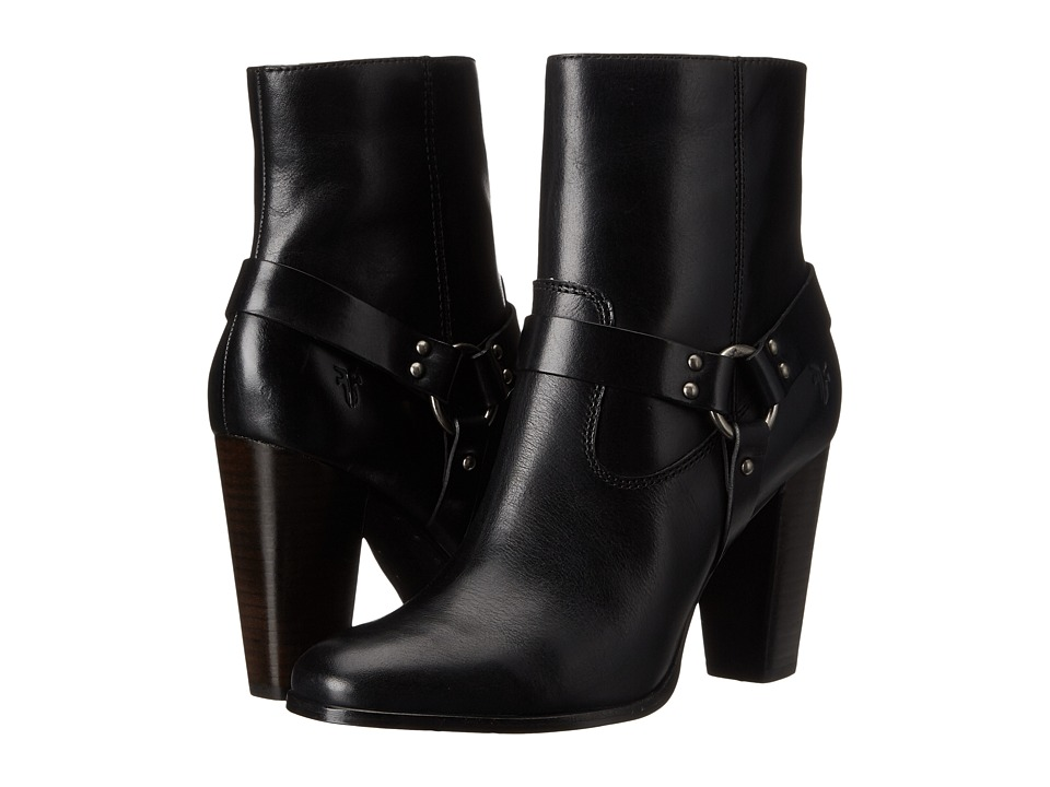 Frye - Laurie Harness Short (Black Smooth Polished Veg) Women's Boots