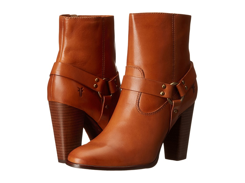 Frye - Laurie Harness Short (Tan Smooth Polished Veg) Women's Boots
