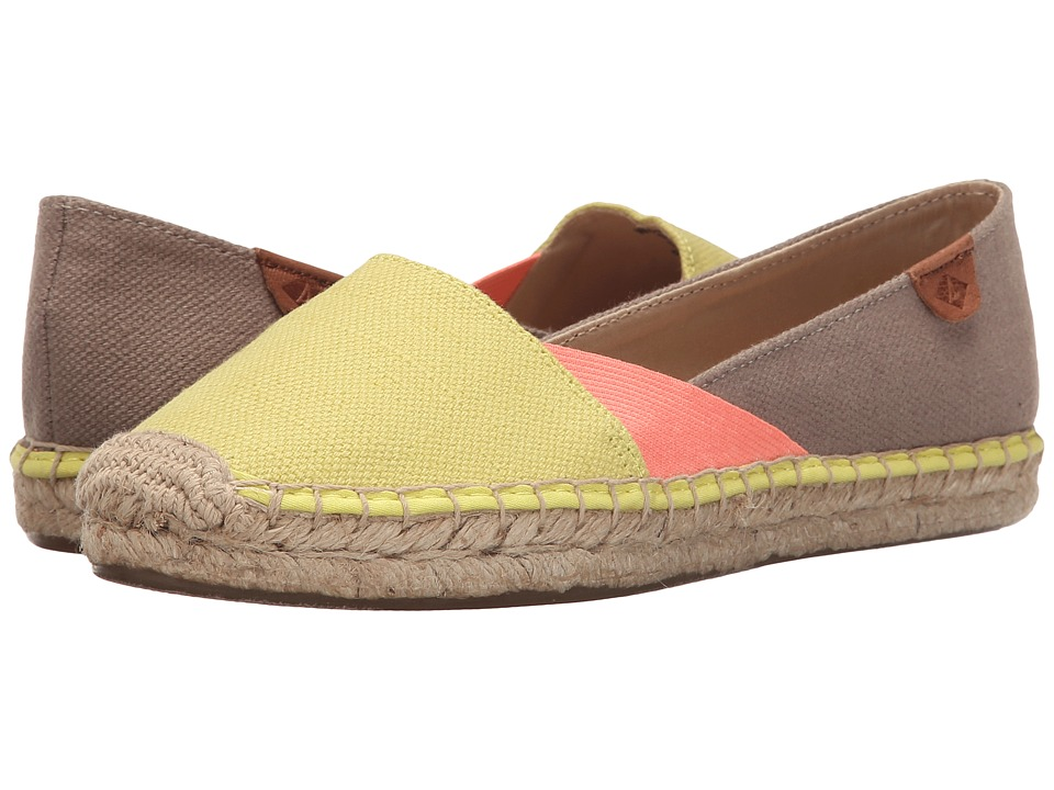 Sperry - Katama Cape Color-Block (Yellow/Coral/Taupe) Women's Slip on Shoes