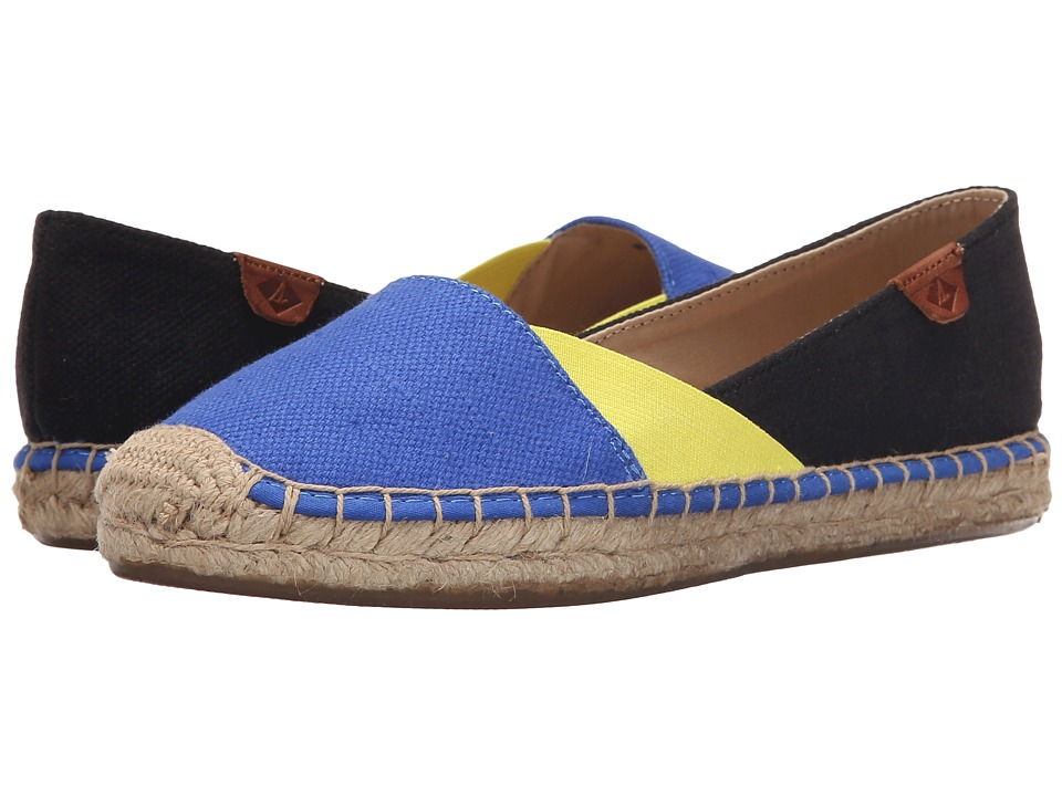 Sperry - Katama Cape Color-Block (Baltic Blue/Light Yellow/Black) Women's Slip on Shoes