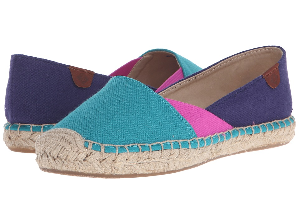 Sperry Top-Sider - Katama Cape Color-Block (Teal/Bright Pink/Navy) Women's Slip on Shoes
