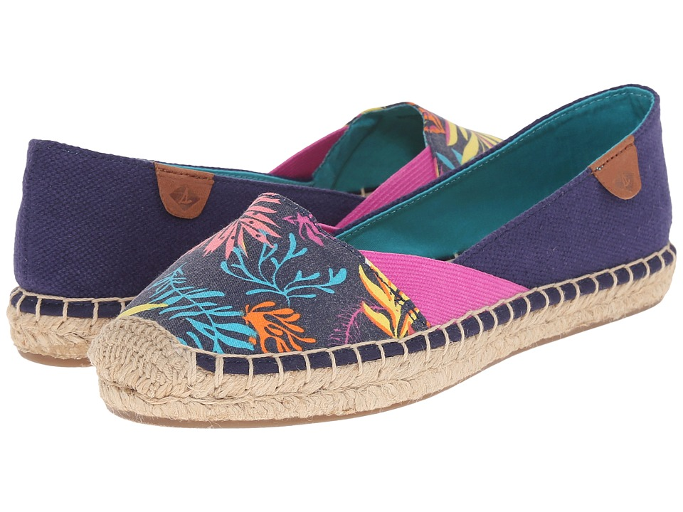 Sperry Top-Sider - Katama Cape Prints (Blue Seaweed) Women's Slip on Shoes