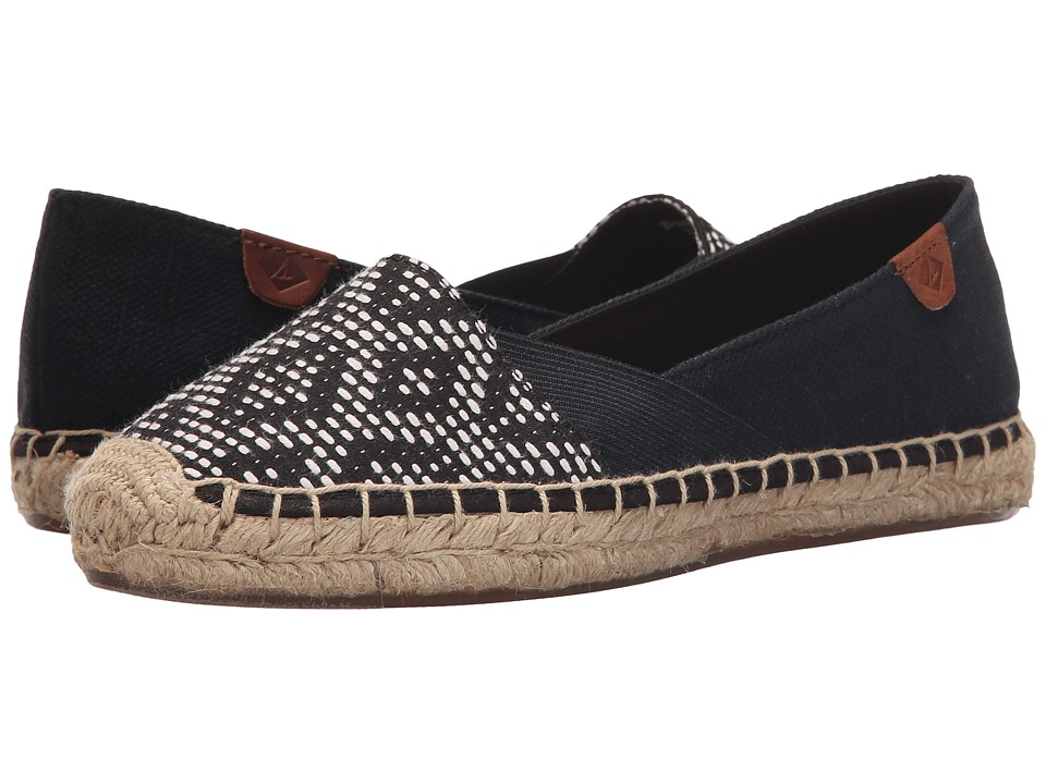 Sperry - Katama Cape Prints (Black/White Tribal) Women's Slip on Shoes