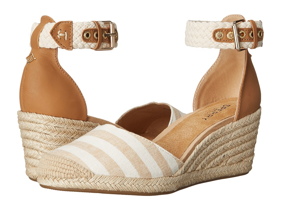 Sperry - Valencia Canvas (Natural/Sand Stripes) Women's Wedge Shoes