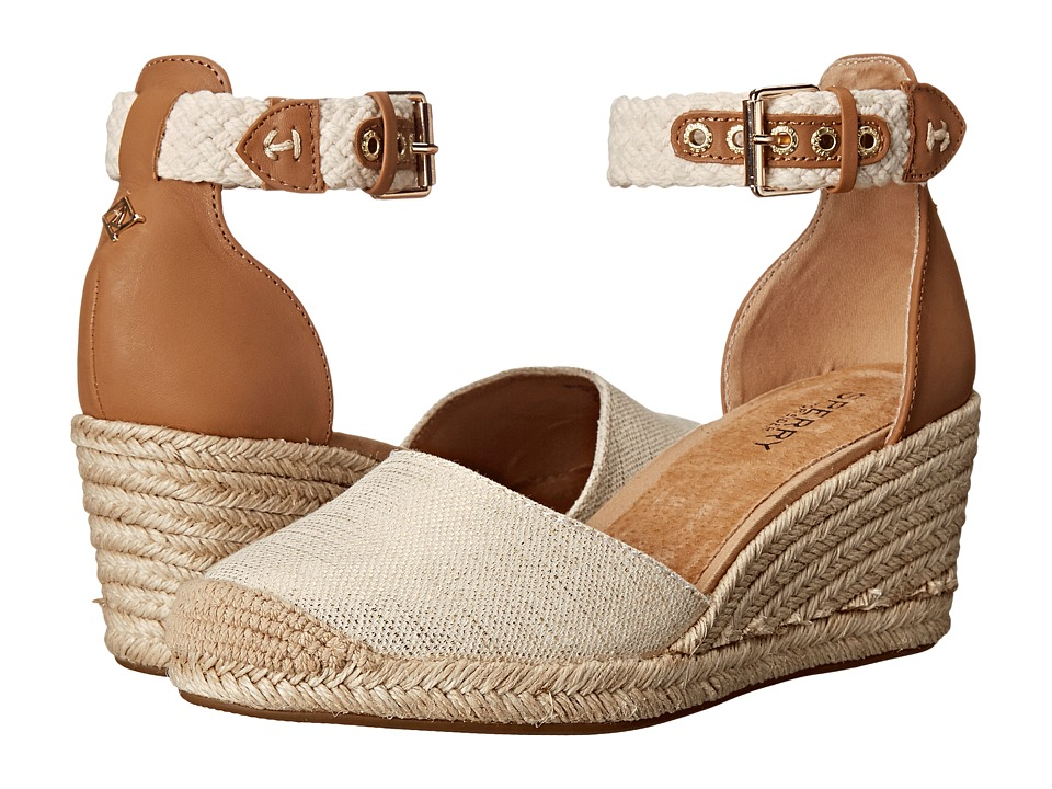 Sperry Top-Sider - Valencia Canvas (Natural/Gold) Women's Wedge Shoes