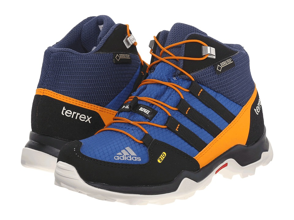 adidas Outdoor Kids - Terrex Mid GTX (Little Kid/Big Kid) (Equipment Blue/Black/Equipment Orange) Boys Shoes