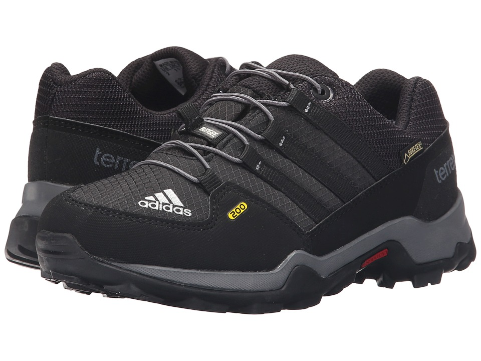 adidas Outdoor Kids Terrex GTX (Little Kid/Big Kid) (Black/Black/Vista Grey) Boys Shoes