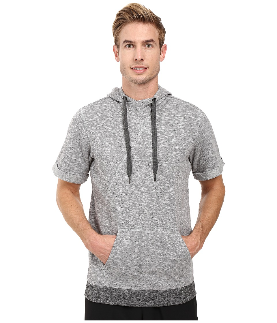 adidas - Wall Short Sleeve Hoodie (Light Solid Grey) Men's Sweatshirt