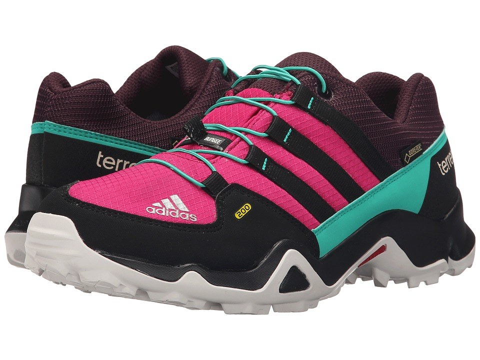 adidas Outdoor Kids - Terrex GTX (Little Kid/Big Kid) (Bold Pink/Black/Shock Mint) Girls Shoes