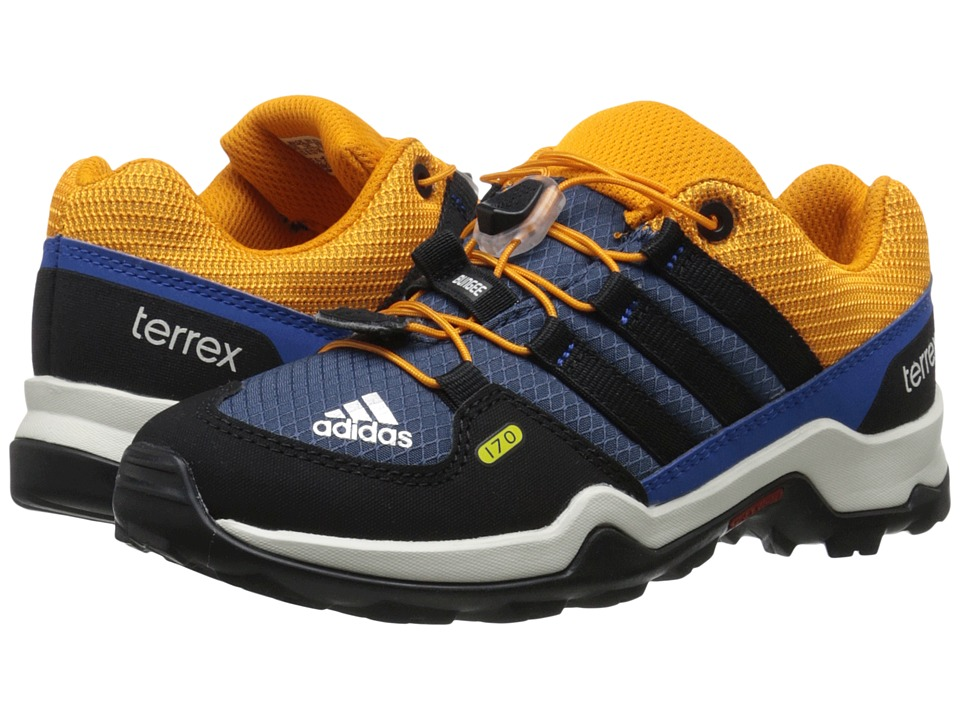adidas Outdoor Kids - Terrex (Little Kid/Big Kid) (Mineral Blue/Black/Equipment Orange) Boys Shoes