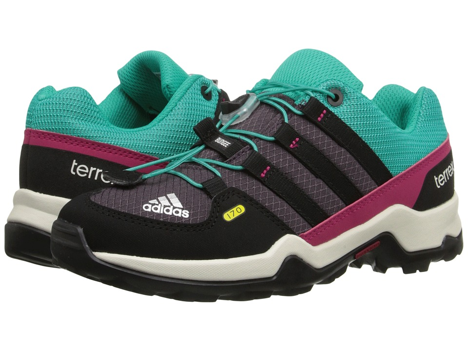 adidas Outdoor Kids - Terrex (Little Kid/Big Kid) (Shock Mint/Mineral Red/Black) Girls Shoes