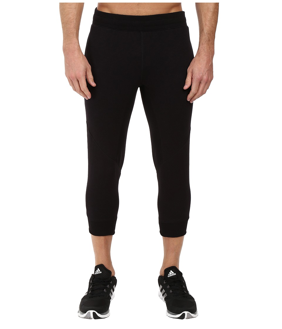 adidas - Wall 3/4 Pants (Black) Men's Casual Pants