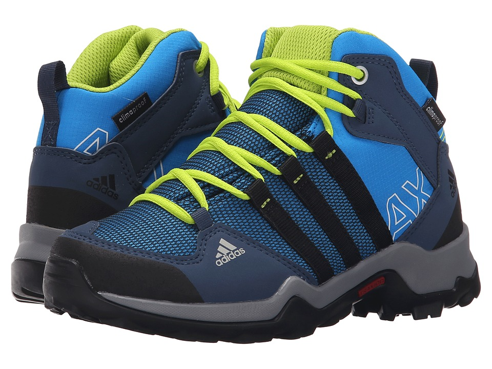 adidas Outdoor Kids - AX2 Mid CP (Little Kid/Big Kid) (Shock Blue/Black1/Semi Solar Slime) Boys Shoes