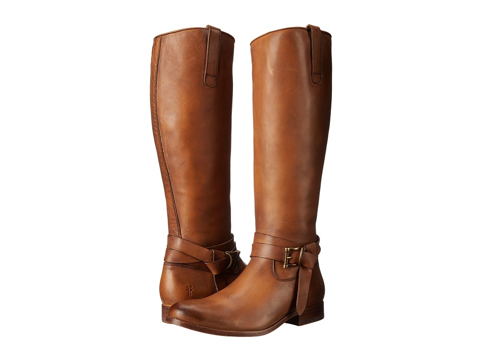 Frye - Melissa Knotted Tall (Tan Polished Stonewash) Cowboy Boots
