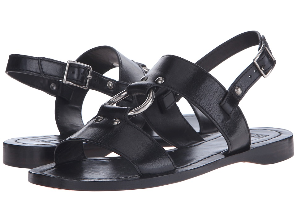 Frye - Rachel Harness Sandal (Black Smooth Polished Veg) Women's Sandals