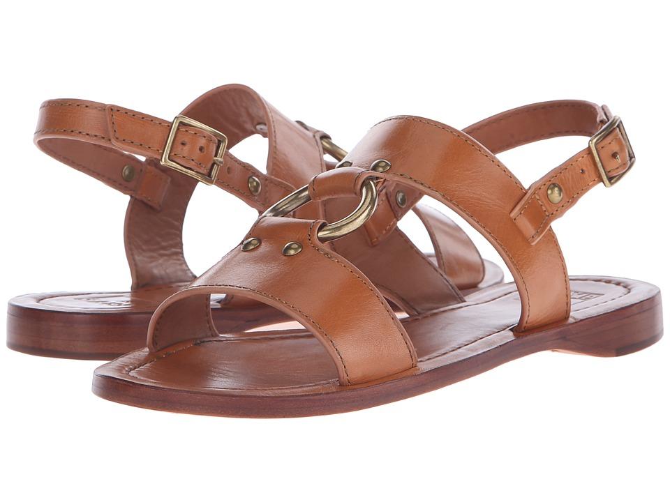 Frye - Rachel Harness Sandal (Tan Smooth Polished Veg) Women's Sandals