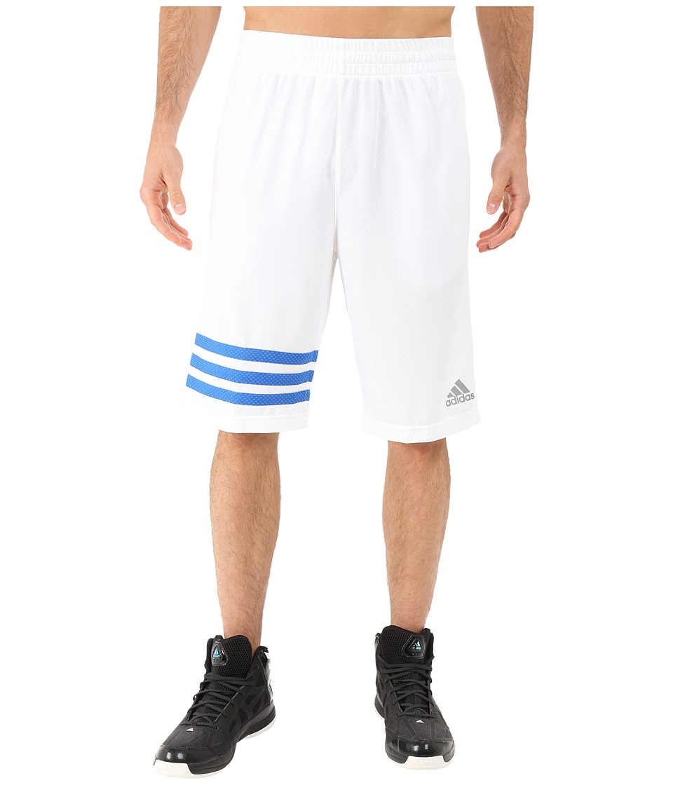 adidas - Made In March 3-Stripe Shorts (White/Bright Royal) Men's Shorts