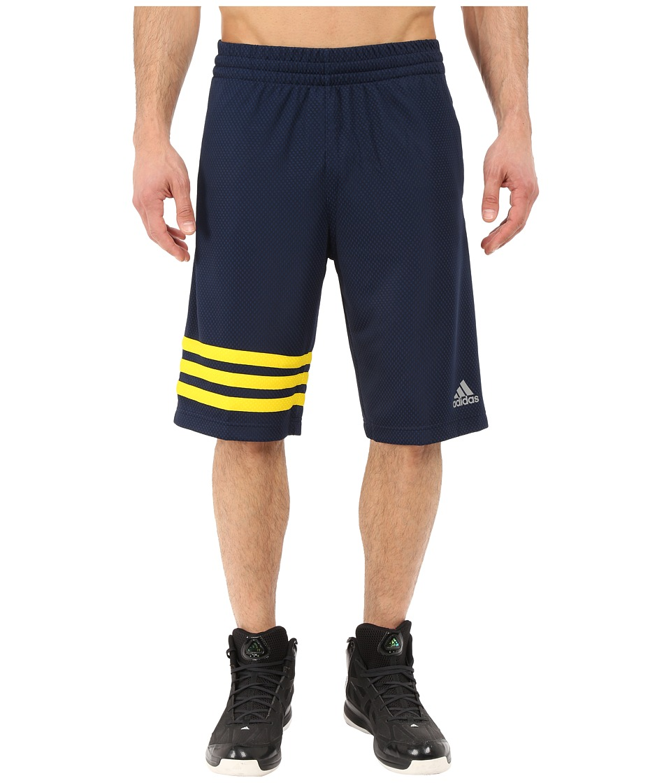 adidas - Made In March 3-Stripe Shorts (Collegiate Navy/Yellow) Men's Shorts