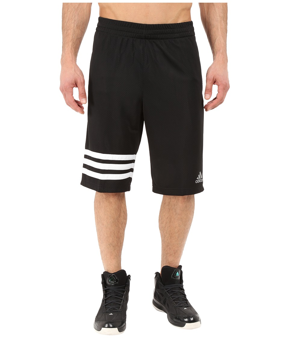adidas - Made In March 3-Stripe Shorts (Black/White) Men's Shorts