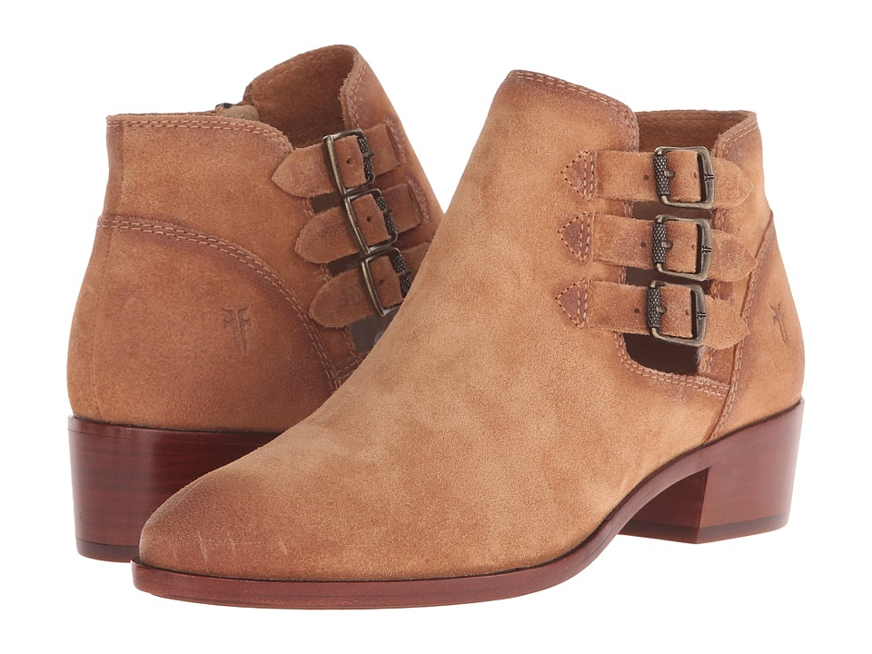Frye Ray Belted Bootie Sand Suede Cowboy Boots