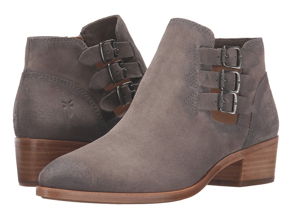 Frye - Ray Belted Bootie (Dark Grey Suede) Cowboy Boots