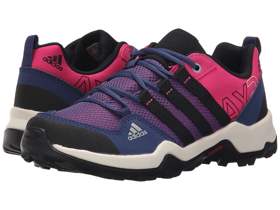 adidas Outdoor Kids - AX2 (Little Kid/Big Kid) (Equipment Pink/Black/Raw Purple) Girls Shoes