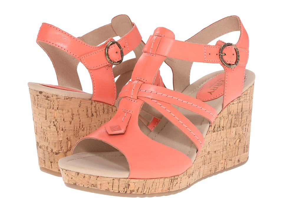 Sperry - Dawn Day (Coral) Women's Wedge Shoes