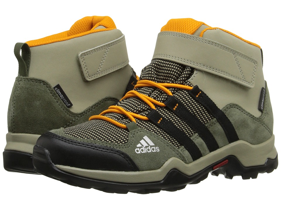 adidas Outdoor Kids - Brushwood Mid CF CP (Little Kid/Big Kid) (Tech Beige/Black/Equipment Orange) Boys Shoes