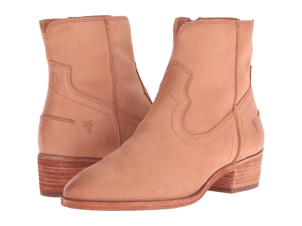 Frye Ray Seam Short (Camel Soft Oiled Leather) Cowboy Boots